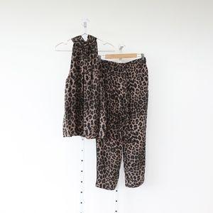 Joie Erola Silk Top + Ayanna B Silk Crop Pants